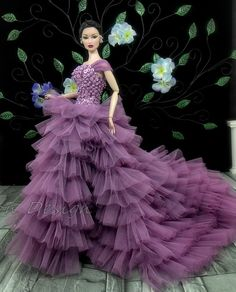 Amon Design Gown Outfit Dress Fashion Royalty Silkstone BArbie Model Doll Fr | DIVINEMENT BELLE **+