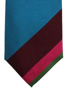 51584e2c9349 Gene Meyer Tie Black Aqua Maroon Pink Design - Tie Deals #COOLtie  #genemeyer #