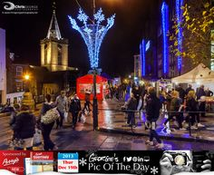 Last late night Christmas shopping before the big day. An air of excitement in town tonight #LoveGuernsey http://chrisgeorgephotography.dphoto.com/#/album/cbc2cr/photo/20665277 Perrys Guide Ref: Page 3 K8 Picture ref: 19_12_13 — at St. Peter Port, Guernsey