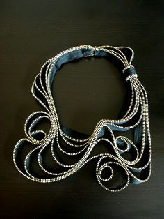 The Tangled Metal Zipper Necklace