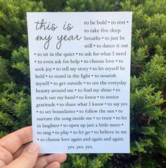 The This Is My Year Manifesto is an invitation to step into the story you most want to unfold in 2016. :: 5x7 print by liz lamoreux on Etsy