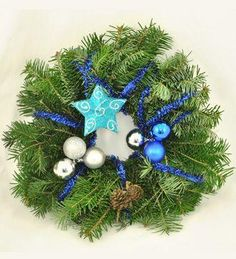 Doar pe www.123flori.ro Hanukkah, Wreaths, Home Decor, Crown, Decoration Home, Door Wreaths, Deco Mesh Wreaths, Interior Design, Garlands