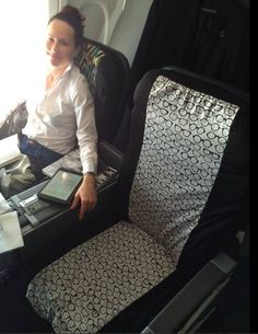 Seat covers for use on public seats. Great for airplanes, commuter ...