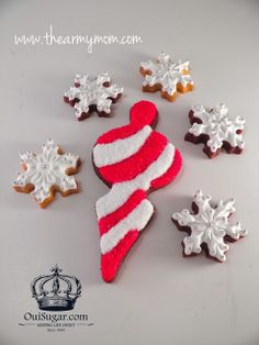 Holiday Ornament Cookies created with vintage Martha by Mail cutter set. Decorated with Oui, Sugar! decorating kits - Now on sale! Promo Code good for 2 weeks, starting today! xo