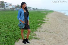 How To Style Polka Dot Dress + Sneaker Wedges