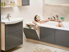Bathroom renovations - 40 Smart And Creative Storage For Small Spaces Ideas Bathroom Design Luxury, Bathroom Design Small, Small Bathroom With Bath, Small Bathroom Renovations, Bathroom Remodeling, Toilette Design, Small Space Storage, Hidden Storage, Creative Storage