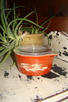 Beautiful vintage Pyrex piece for a POP of color!      PYREX 1 Liter Autumn Harvest Bowl 473b by CallahanCollectibles, $9.75