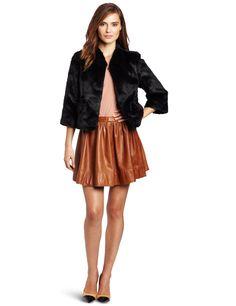 Velvet Womens Alana Faux Fur Mink Jacket