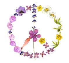 Flowery peace sign