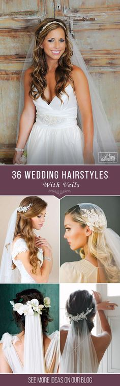 36 Wedding Hairstyles With Veil ❤ We picked up wedding hairstyles with veil for updos and half-down, bun, long and short hair special for you. It is an undisputed symbol of every bride. See more: http://www.weddingforward.com/wedding-hairstyles-with-veil/