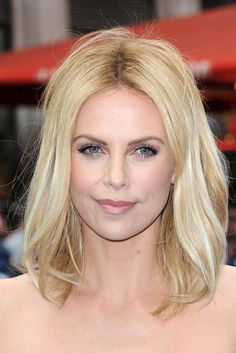 Charlize Theron looking like a goddess in fresh, ethereal makeup. #beauty #makeup
