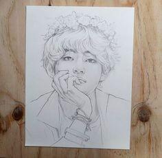 Kpop Drawings, Pencil Art Drawings, Drawing Sketches, Fanart Bts, Taehyung Fanart, Bts Book, Boy Drawing, Art Sketchbook, Art Reference