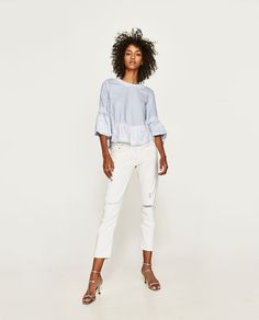 ZARA - WOMAN - BLOUSE WITH LACE DETAILS