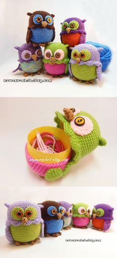 Owl Patterns, Amigurumi Patterns, Crochet Patterns, Crochet Crafts, Crochet Toys, Crochet Projects, Owl Quilts, Felt Owls, Egg Crafts
