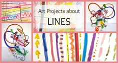 Lines are an excellent starting point for lessons with Kindergarteners. To begin this line unit, we read the book Lines That Wiggle. The students used colored tape to make straight lines across thei