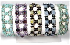 Crossroads Bracelet Pattern at Sova-Enterprises.com. Lots of free beading patterns and tutorials are available on this site!