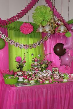 """Photo 11 of Owls / Pink & Green Birthday Party """"Isabella's Owl Birthday"""" Little Girl Birthday, Baby 1st Birthday, Pink Birthday, Monkey Birthday, Birthday Ideas, Zombie Birthday Parties, Owl Parties, Zombie Party, Green Party Decorations"""