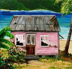 Pink Caribbean House