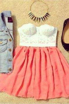 Tenue robe bustier