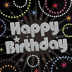 Time To Party Happy Birthday Beverage Napkins 16ct