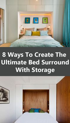 Bedroom Design Ideas - 8 Ways To Create The Ultimate Bed Surround With Storage //