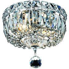 Elegant 2 Light Crystal Chandelier Pendant Lamp Ceiling Fixture Home Lighting