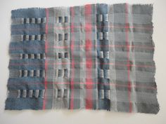 Lizzie Kimbley: weave sample: 2nd prize for W2 Clothworkers' Foundation award at Bradford Textile Society competition 2014-15