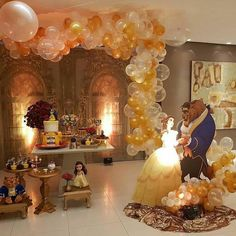 Quinceanera Party Planning – 5 Secrets For Having The Best Mexican Birthday Party Beauty And Beast Birthday, Beauty And The Beast Theme, Beauty And The Best, Disney Beauty And The Beast, Beauty Beast, Princess Birthday, Princess Party, Father Daughter Dance, Quinceanera Party