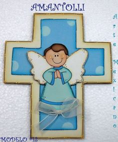 cruces para primera comunion en madera para recuerdos First Communion Favors, Baptism Favors, Wood Craft Patterns, Baby Shawer, Ideas Para Fiestas, Christian Jewelry, Baby Shower Themes, Wood Crafts, Smurfs