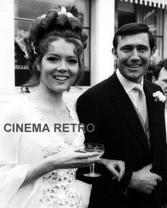 """Diana Rigg w/George Lazenby – the only Bond girl to become Mrs. James Bond (in """"Her Majesty's Secret Service"""")"""
