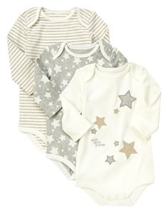 Wish Upon a Star! Our soft bodysuits make dressing baby super easy.