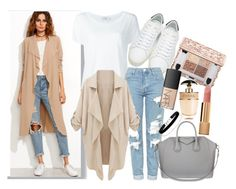 """""""Camel coat"""" by marias1808 ❤ liked on Polyvore featuring Yves Saint Laurent, Frame, Topshop, WithChic, Givenchy, Miss Selfridge, NARS Cosmetics, Prada and Chanel"""