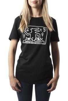 Keith Haring's DJ Dog (Black)