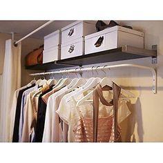 Ikea Mulig Clothes Bar  White  Adjustable Multi Purpose Wall Hanging Rack Displa