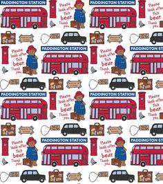 Paddington Bear Station  100% Cotton by DarkWoodCreations on Etsy