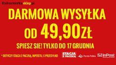 Od 49,90 zł realizujemy zamówienia e-przesyłką, na stacje Orlenu oraz do paczkomatu ZA DARMO!