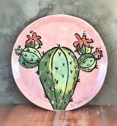Cactus, Painting Techniques, Pottery, Plates, Instagram, Tableware, Victoria, Painted Flower Pots, Painted Rocks