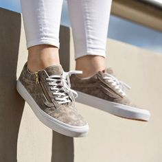 Vans Marble Suede Old Skool Zip Sneakers