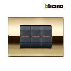 Livinglight Oro Freddo #BTicino #placca #design #tech #gold #style