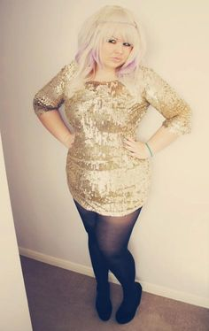 136f6711a03 Hayley Barnes - Atmosphere Gold Sequin Dress