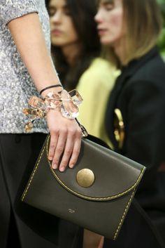 Celine Tie Handbag in Crisped Calfskin, Color Bright Orange | Bags ...