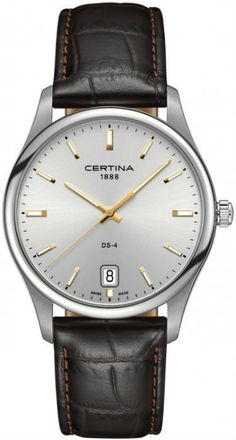 Certina DS 4 Big Size Quartz Analog Date Brown Leather Watch# C022.610.16.031.01 (Men Watch)