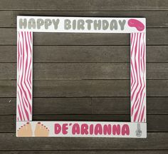 SPA PARTY PHOTOBOOTH - Birthday Photo Booth Frame - Wood Photobooth Frame Prop