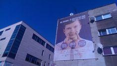 Siatka Wrocław - reklama przy ul. Kuźniczej