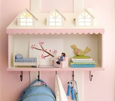 Casa de muñecas perchero