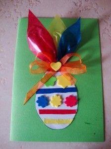Lavoretti di Pasqua per bambini: biglietto d'auguri fai da te originale