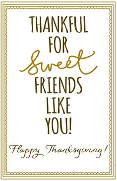 Thanksgiving - Thankful for sweet friends - thaknsgiving