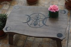 """sosuperawesome: """"Signboards, Wheel of the Year and Oujia Boards, and Altar Tables, by Pandora Witch Shop on Etsy """" Witch Room, White Witch, Eclectic Decor, Wood Crafts, Witchcraft, Candle Holders, Hand Painted, Wicca, Witches"""