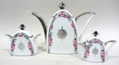 Limoges French Porcelain 3Pc Tea Set. Soooo beautiful! I want this....