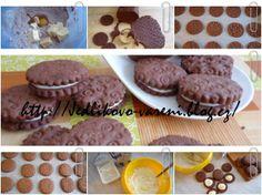 Jedlíkovo vaření: sušenky - domácí sušenky oreo  #baking #cukrovi #vanoce #susenky #cookies #recept #oreo Cookies, Food, Crack Crackers, Biscuits, Cookie Recipes, Meals, Cookie, Biscuit
